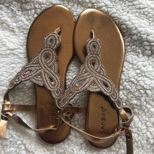 Gold Bamboo sandals